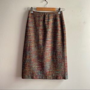 Vintage Missoni rainbow stripe wool mohair skirt